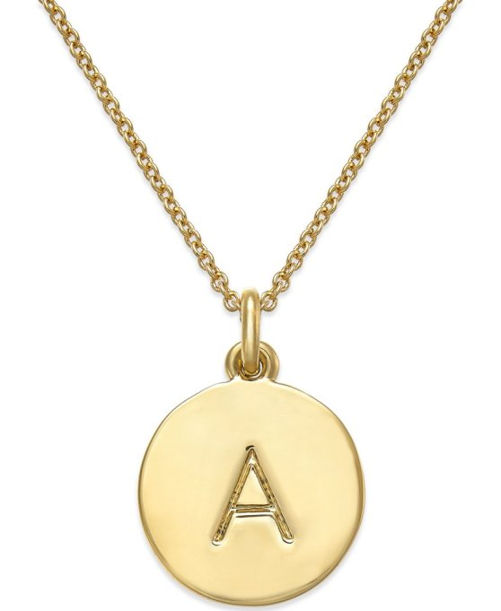 Pendant Necklaces to Stock Up On Now: Kate Spade New York 12k Gold-Plated Initials Pendant Necklace | Summer Style 2017