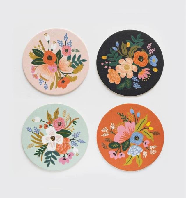 Valentine's Day Gifts For Moms: Floral coaster set from Rifle Paper Co.