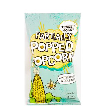 partially popped popcorn