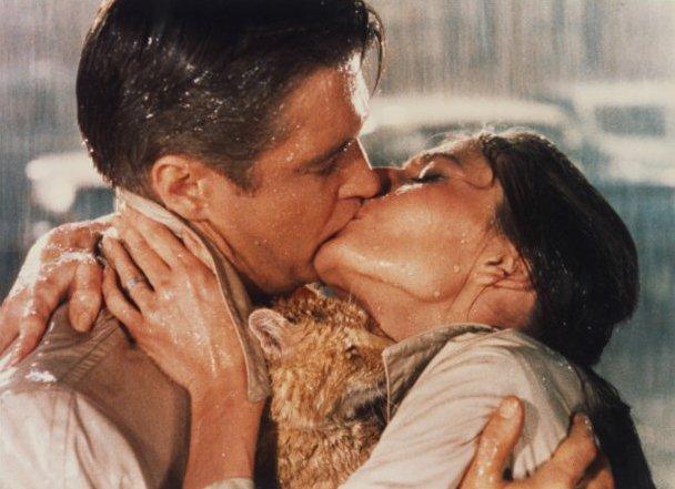 movie kisses Breakfast at Tiffany's