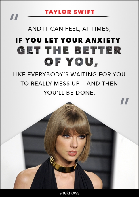 Taylor Swift anxiety quote