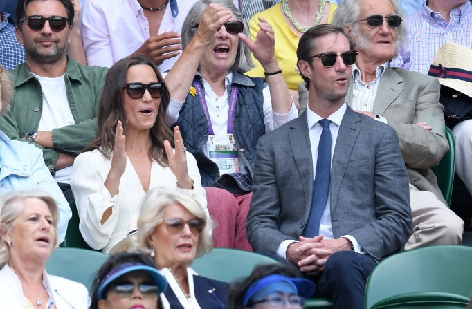 Check out these celebrities at the 2017 Wimbledon tournament: Pippa Middleton & James Matthews