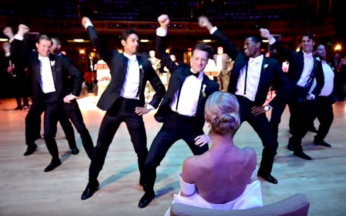Groom's wedding dance crushed it to