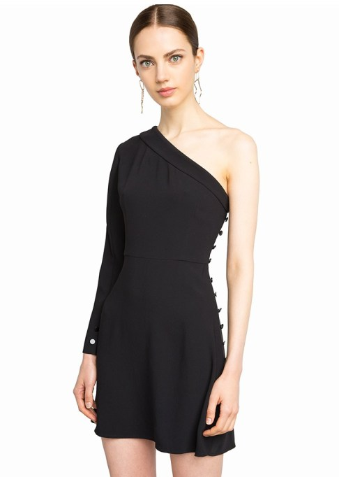 Black Summer Dresses To Live In This Season: Pixie Market Cara One-Shoulder Dress | Summer Style 2017