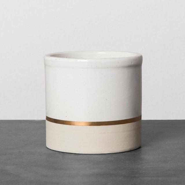Ceramic candle magnolia