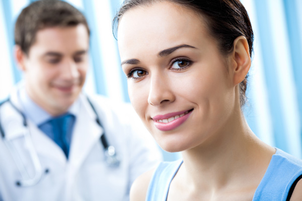 Woman at appointment with doctor