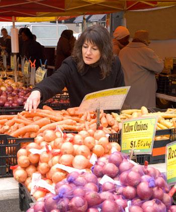 Woman at Farmer's Market