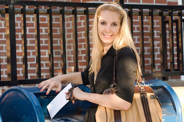 Woman at Mailbox