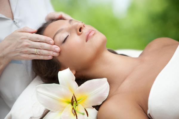 Woman at organic spa