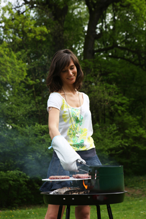 Woman with BBQ
