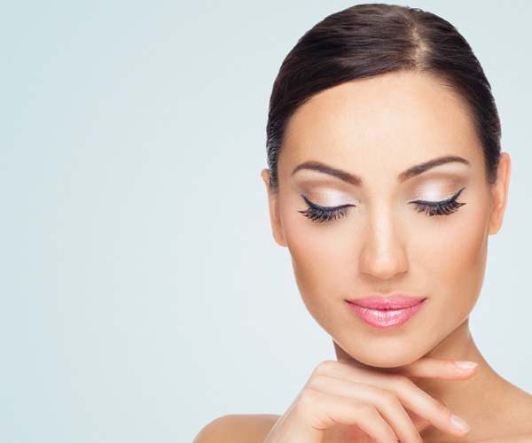 Woman with beautiful lashes