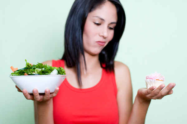 Woman breaking diet rules