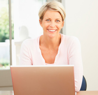 Woman cleaning out emails