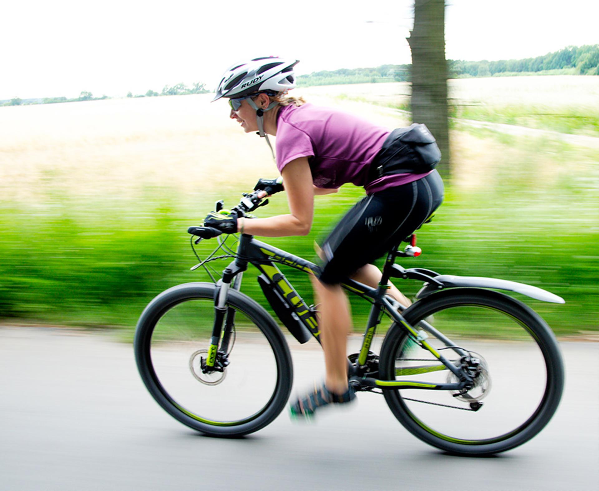 woman cycling