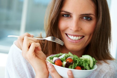 Woman eating healthy - Trying to conceive