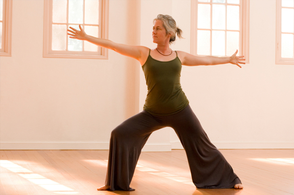 Woman in Forties Stretching
