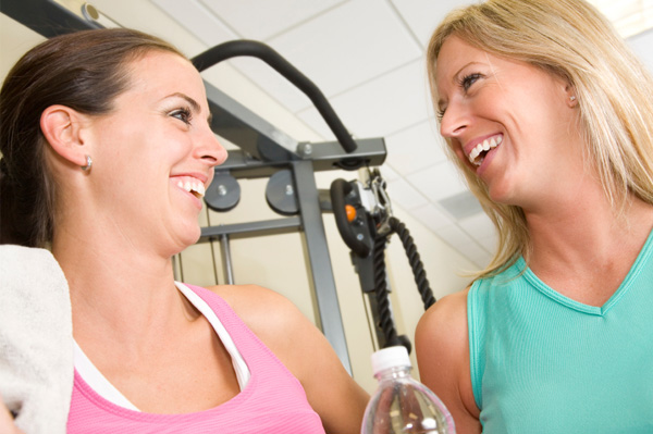 Woman friends at gym