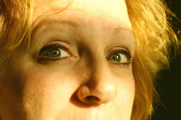 Woman having hot flash