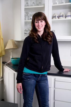 Woman in clean kitchen