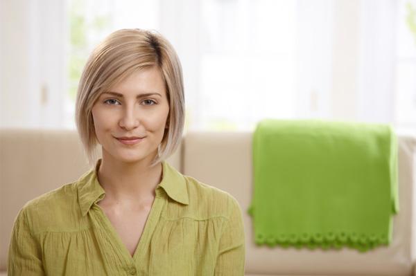 woman in modern living room