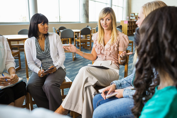 Women in a support group