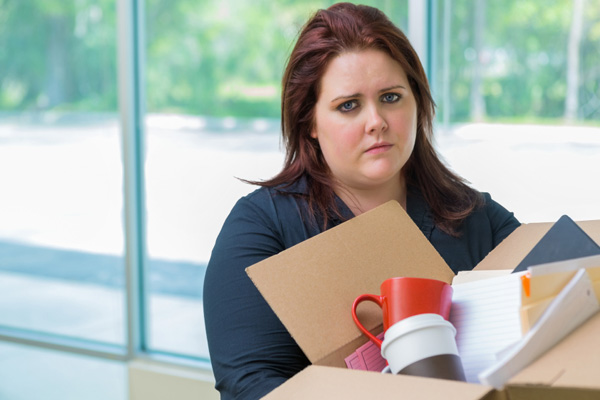 Woman that was laid off from work
