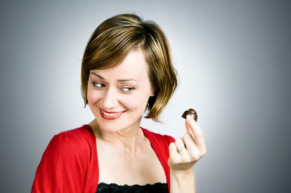 woman having chocolate craving