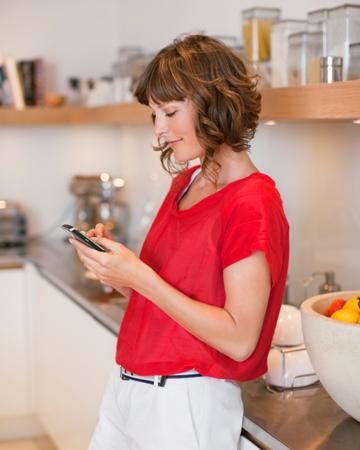 Woman making phone call