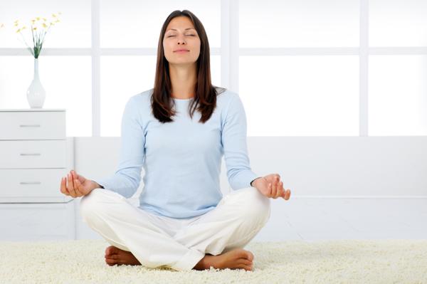 mom meditating
