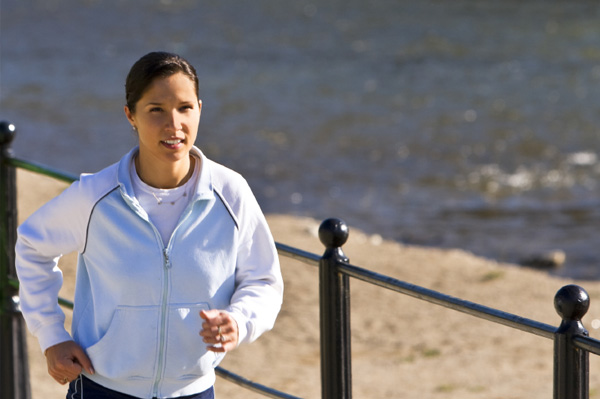 Woman going for morning run