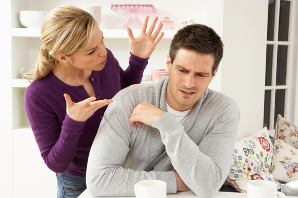 Woman with nagging boyfriend