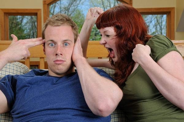Woman nagging her boyfriend