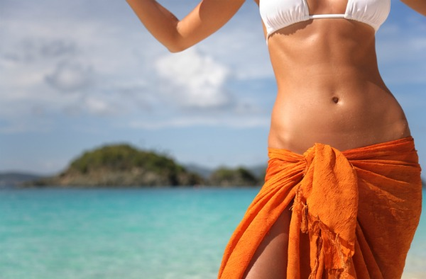woman on vacation in sarong