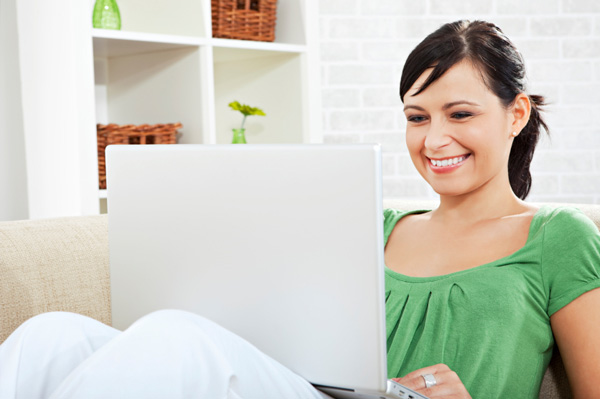 Woman planning New Year's resolution
