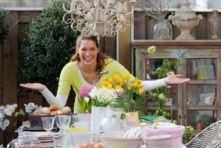 Woman hosting Easter