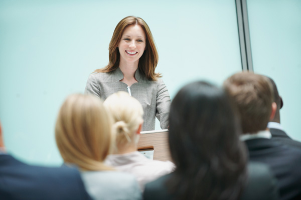 Woman public speaking