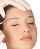 Woman receiving botox injection