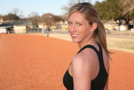Woman at track