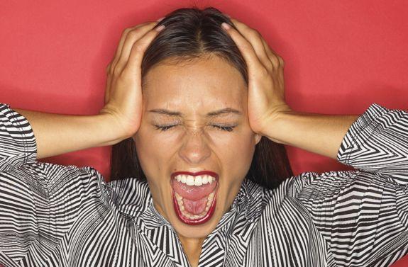 Women upset after breakup