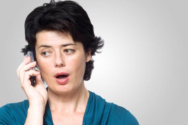 Woman shocked on cell phone