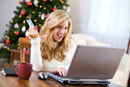 Woman shopping online on Cyber Monday