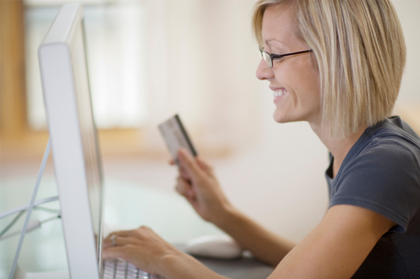 woman shopping online for Cyber Monday