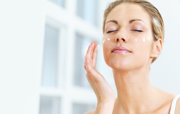 Image result for woman using skincare