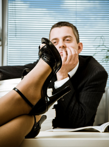 Woman Wearing Stilettos