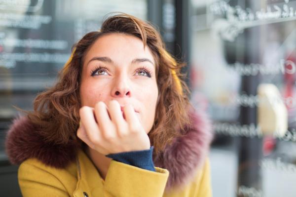 Woman thinking outside