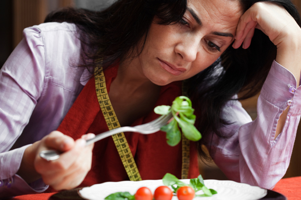 Woman tired of diet