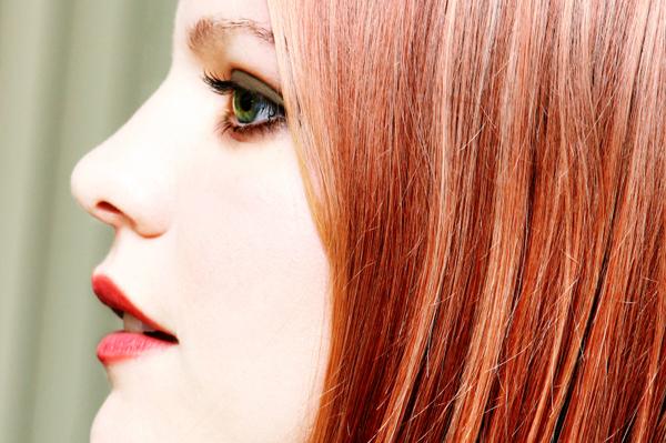 Woman wearing matte makeup