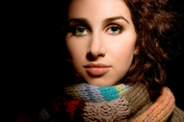 Beautiful woman - winter hair
