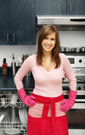 woman by dishwasher