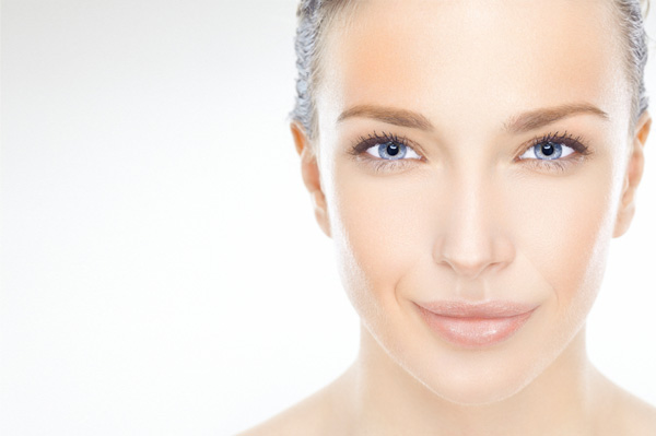 Woman with glowing skin